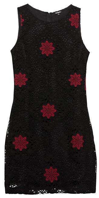 Desigual Dámske šaty Vest Lex Negro 19WWVW57 2000 42