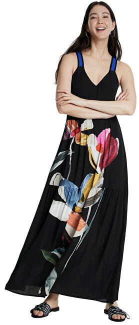 Desigual Dámske šaty Vest Lisboa Negro 20SWVW45 2000 44
