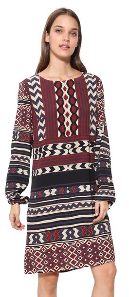 Desigual Femeile rochie Vest Marfil 17WWVW77 1003 38