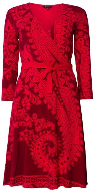 Desigual Dámske šaty Vest Marlene Rojo Oscuro 19WWVK50 3029 S