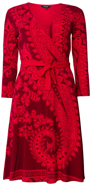 Desigual Dámske šaty Vest Marlene Rojo Oscuro 19WWVK50 3029 XXL