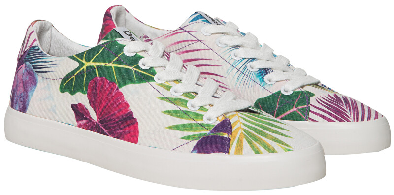 Desigual Adidași pentru femei Canvas Vulcanized Sneker Bio Poppy Coral 19SUKW08 7058 38