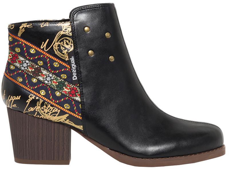 Desigual Dámske členkové topánky Shoes Country Exotic Negro 18WSAP08 2000 37