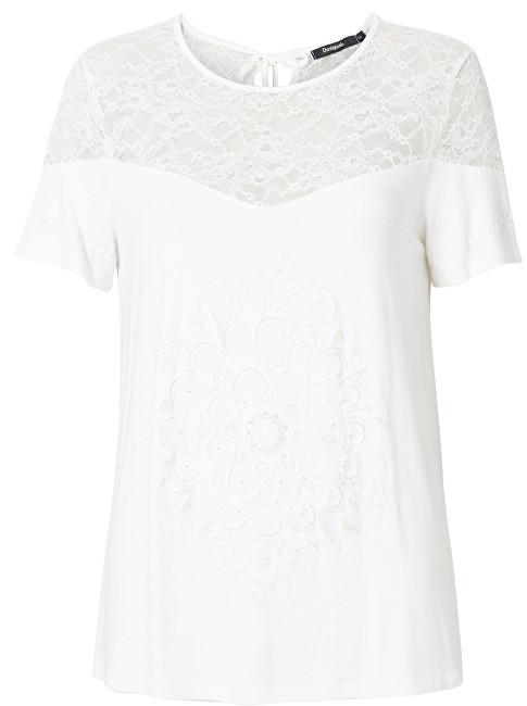 Desigual Dámske tričko TS Cannes Egret 19SWTKAM 1031 S