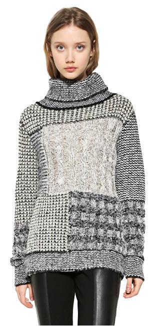 Desigual Doamnelor pulover JERS Charlie 17WWJF30 1000 XL