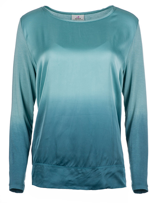 Deha Dámska blúzka Long Sleeve Tee D83570 Blue Tiffany S