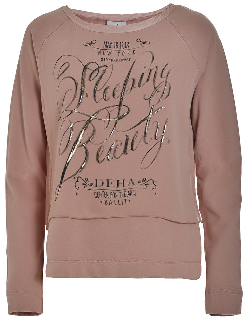 Deha Dámská mikina Double Sweatshirt B84062 Rose Dust S 82f3a545d3