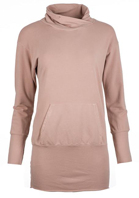 Deha Dámská mikina Long Sweatshirt B84064 Rose Dust S 5d68ee3f75
