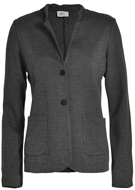 Deha Dámske sako Button Jacket D83280 Dark Grey Mel. M