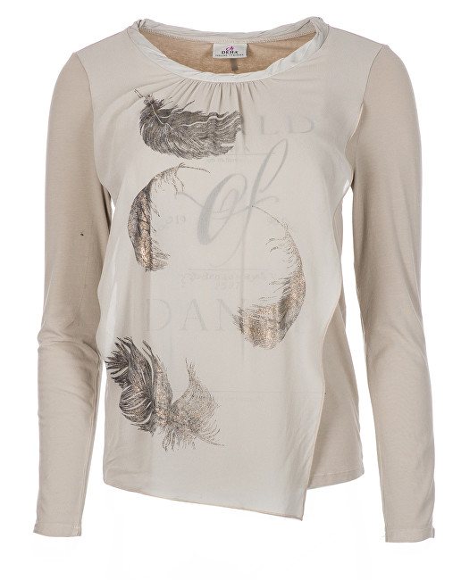 Deha Dámske tričko Long Sleeve T-Shirt B84160 Natural Beige L