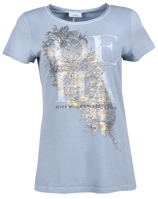 Deha Dámske tričko T-Shirt B84150 Dusty Blue XS
