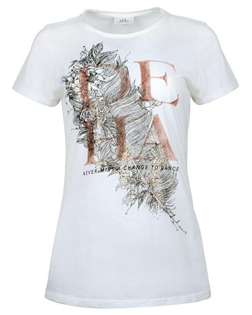 Deha Dámske tričko T-Shirt B84150 Snow XS