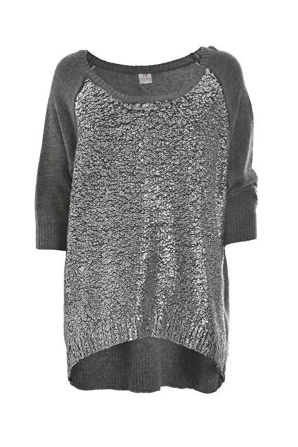 Deha Dámský svetr Boatneck Sweater D63150 Dark Grey Mel.Lange M