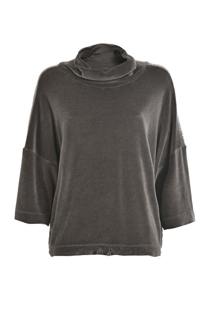 Deha Dámsky sveter Velour Swing Sweatshirt B64512 Walnut Brown XS