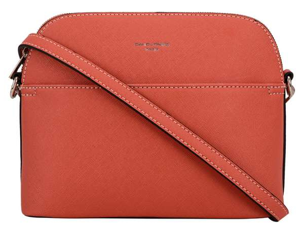 David Jones Dámská crossbody kabelka Brick red 62241
