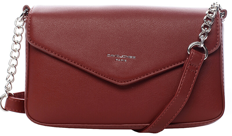 David Jones Dámská crossbody kabelka Dark Red CM5473