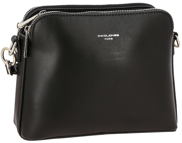 David Jones Dámska crossbody kabelka Black 6407-1