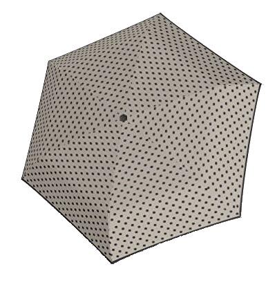 Doppler Dámský mechanický deštník Hit Micro Dots - šedý s puntíky 710565PD01