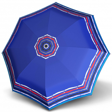 Doppler Dámský mini skládací mechanický deštník Fiber Lolita Mini Raja - modrý 710165RA01