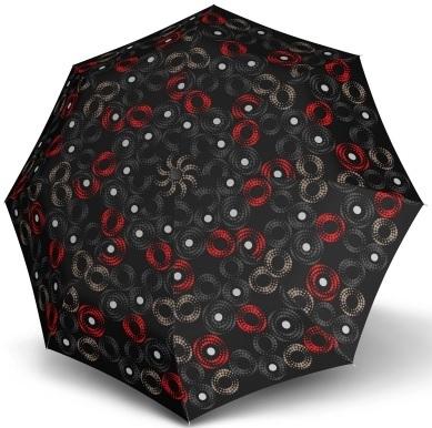 Doppler Dámsky skladací automatický dáždnik Fiber Magic Sofia čierno-červená 7441465SA03
