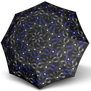 Doppler Dámský skládací automatický deštník Fiber Magic Sofia černo-modrá 7441465SA01