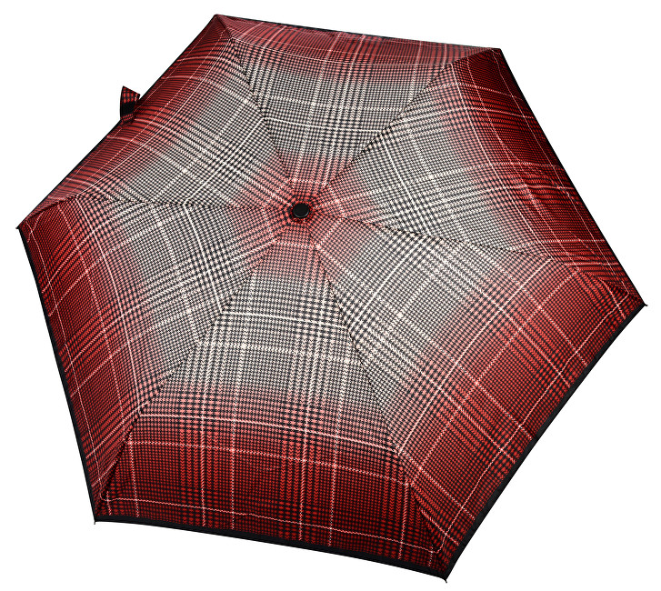 Doppler Dámský skládací mechanický deštník Fiber Havanna Milito červený 722365ML01