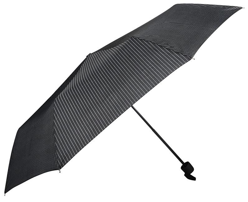 Doppler Dámský skládací mechanický deštník HIT černý s proužkem 700167P02