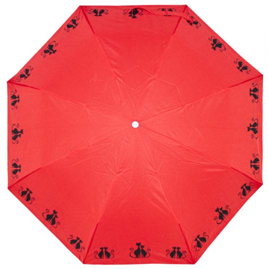 Doppler Dámský skládací mechanický deštník Mini Fiber Dreaming Cats 726465C06