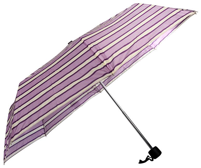 Doppler Dámsky skladací mechanický dáždnik primo vzorovaný 700027505-fialový prúžok