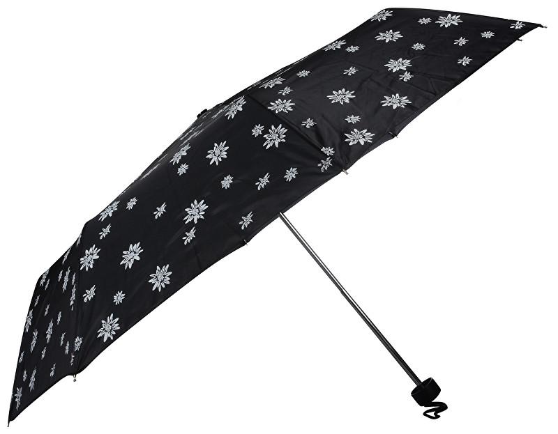 Doppler Dámský skládací mechanický deštník Special Mini Edelweiss černá 700065E03