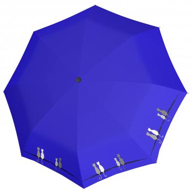 Doppler Dámský skládací plně automatický deštník Fiber Magic Cats 7441465C0502