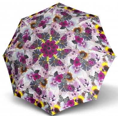 Doppler Dámský skládací plně automatický deštník Magic Fiber Prima Vera - fialový 7441465PV02