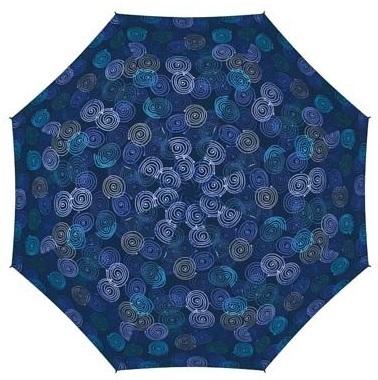 Doppler Dámsky skladací plne automatický dáždnik Magic Hit Roundabout 7440265PR01-modrý