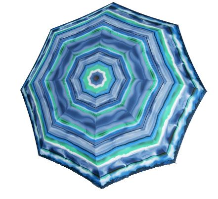 Doppler Dámský skládací vystřelovací deštník Fiber Havanna AC Capri - modrý 720465CA02
