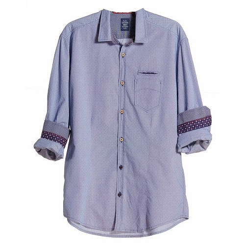 Edward Jeans Pánska košeľa Denim Shirts Light Blue 16.1.1.03.005 L