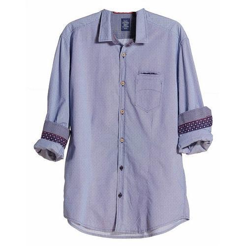 Edward Jeans Pánská košile Denim Shirts Light Blue 16.1.1.03.005 M