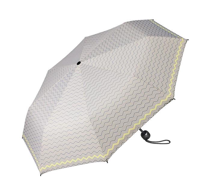 Esprit Dámský skládací deštník Mini Basic printed šedý se žlutým okrajem