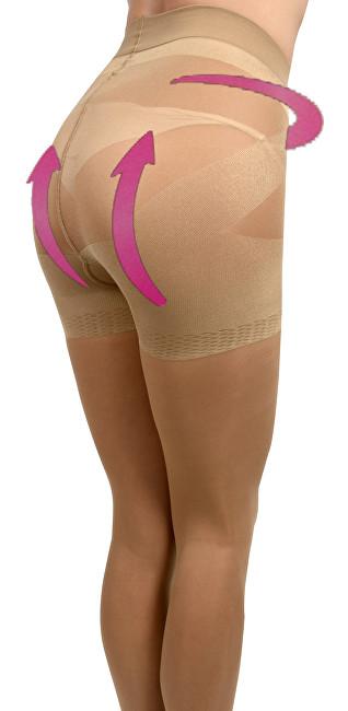 Evona Dámské punčochové kalhoty se zeštíhlujícím a push up efektem LARA tělové-1003 164-108