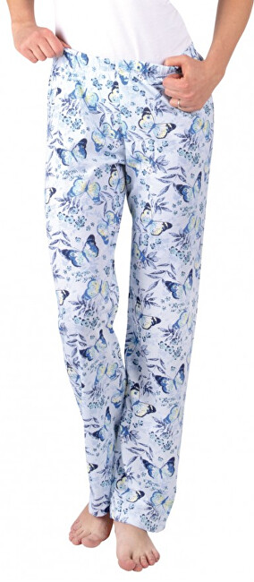 Evona Dámske pyžamové nohavice ZOE modrý motýľ S