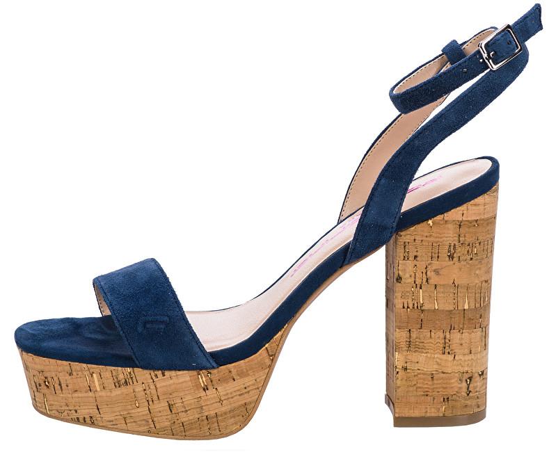 Fornarina Dámská obuv Mina Navy Kid Suede Wo`s Sandal 36