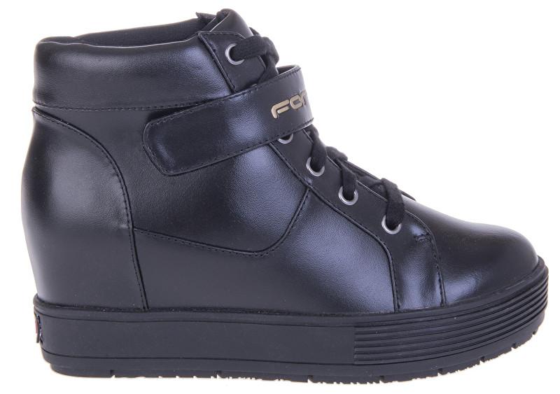 cde1e2cf92f1 Fornarina Dámske členkové topánky Meti - Black Action Leather   Nappa Pu  Wo`s Ankle