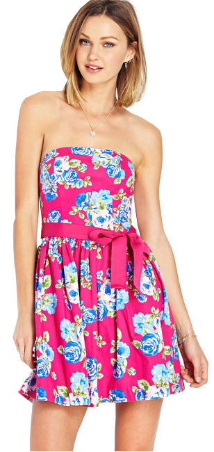 Forever 21 Dámské šaty Garden Party Tube Dress-růžová S