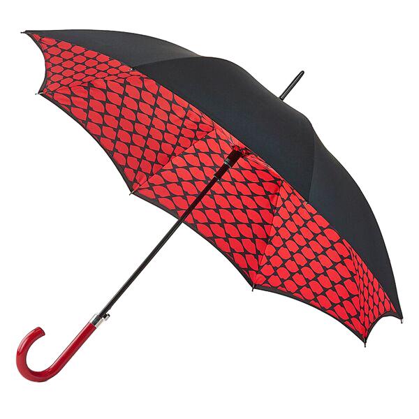 Fulton Dámský holový deštník Bloomsbury 2 Lips Grid L723