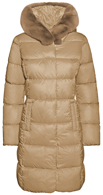 GEOX Dámska bunda Faviola Long Jkt Light Mink W8425K-T2449-F5169 38