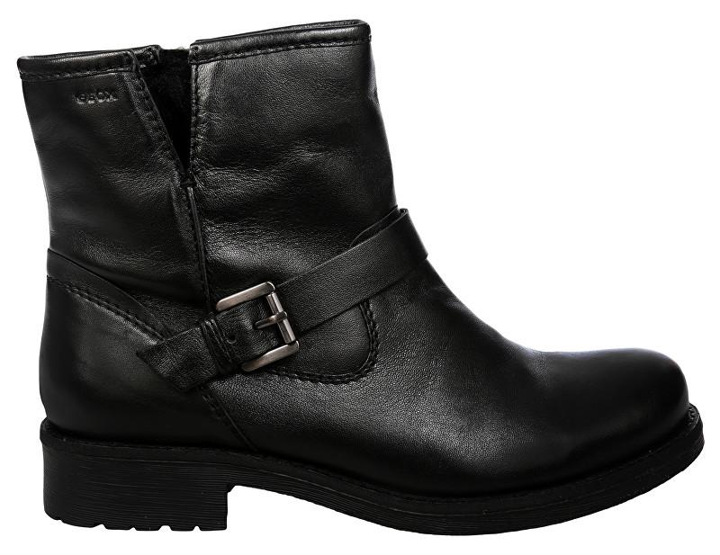 6e2fccd3b GEOX Dámske členkové topánky Donna New Virna Black D7451G-000TU-C9999 38
