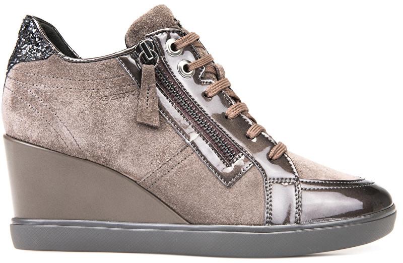 404b3ed7689c GEOX Dámske členkové topánky Eleni Chestnut D7467C-022HI-C6004 40