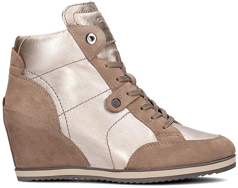 GEOX Dámske členkové topánky Illusion Champagne/Taupe D4454A-0KY22-CB5Q6 39