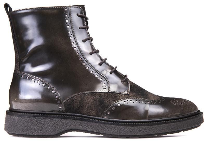 631b6ea103 GEOX Dámske členkové topánky Prestyn Dk Coffee D745WA-038PV-C6024 36