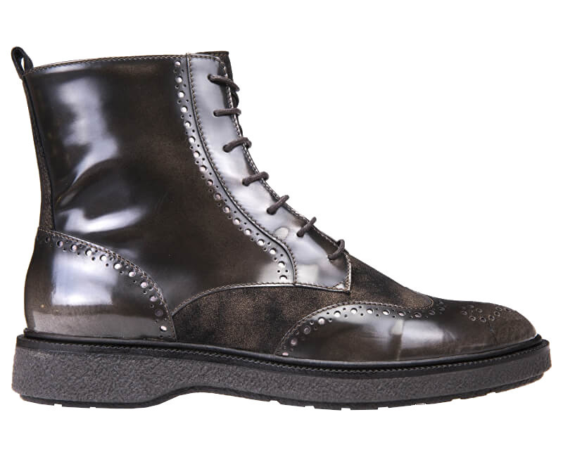 280233438 Hodinky GEOX Dámske členkové topánky Prestyn Dk Coffee D745WA-038PV ...
