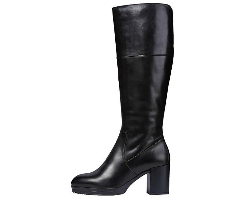 GEOX Cizme pentru femei Remigia FG Black D84AFG-000CL-C9999 37